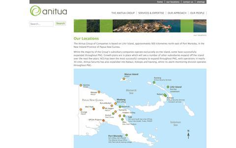 Screenshot of Locations Page anitua.com.au - Anitua - our locations - captured Nov. 21, 2016