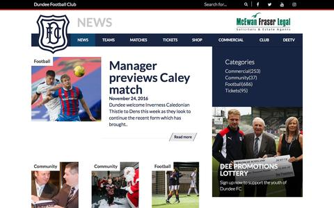 Screenshot of Press Page dundeefc.co.uk - News - Dundee Football Club - Official Website - captured Nov. 24, 2016
