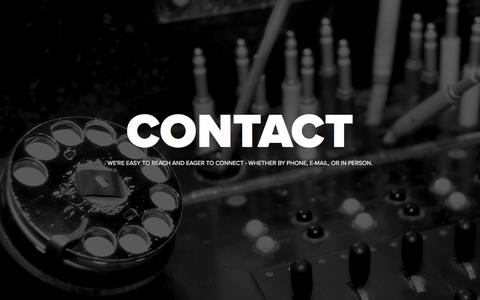 Screenshot of Contact Page finalelements.com - Contact | Final Elements - captured Oct. 7, 2017