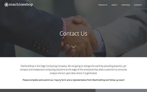 Screenshot of Contact Page machineshop.io - MachineShop   Contact - captured May 9, 2017