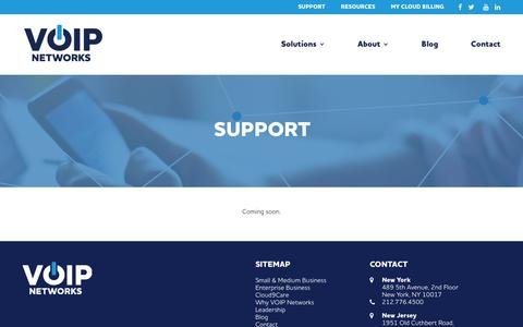 Screenshot of Support Page voipnetworks.com - VOIP Support | VOIP Systems - captured Nov. 7, 2018