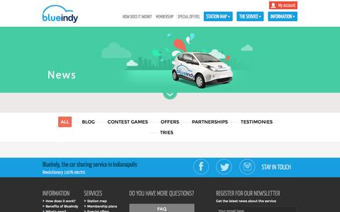 Screenshot of Press Page blue-indy.com - ActualitŽs   blue-indy.com - captured Jan. 6, 2016
