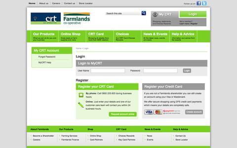 Screenshot of Login Page crt.co.nz - CRT - Login - captured Oct. 1, 2014
