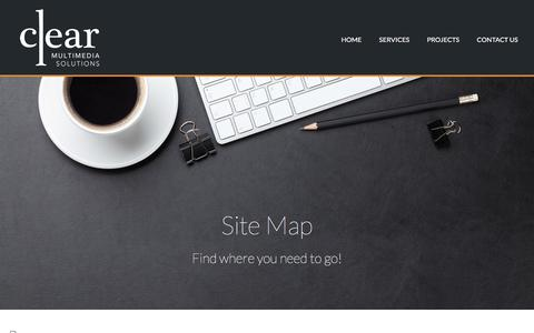Screenshot of Site Map Page clearmultimedia.com.au - Site Map – Clear Multimedia - captured Nov. 7, 2016