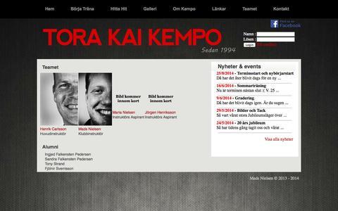 Screenshot of Team Page kempo.se - Kempo Sverige - captured Oct. 7, 2014