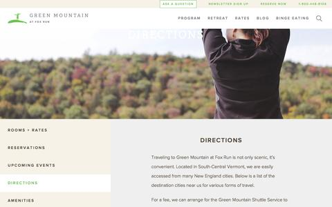 Screenshot of Maps & Directions Page fitwoman.com - Find More than a Vermont Weight Loss Camp   Green Mountain - captured Nov. 15, 2016