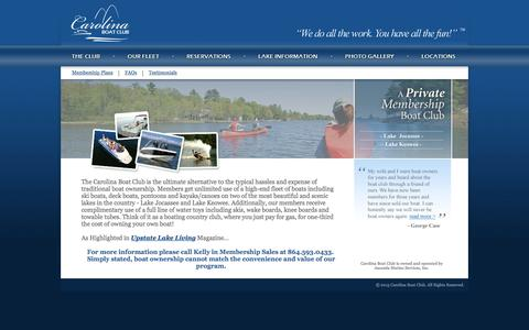 Screenshot of Home Page carolinaboatclub.com - Carolina Boat Club - captured Dec. 7, 2015