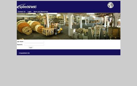 Screenshot of Login Page speedshield.net - Speedshield Fleet Solutions Administration - captured Dec. 21, 2016