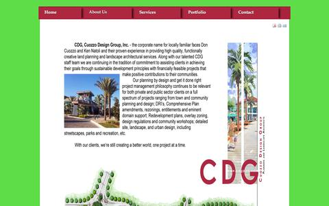 Screenshot of About Page cdgplan.com - About Us - captured Feb. 2, 2016