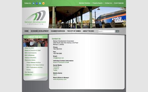 Screenshot of Contact Page berwyn.net - Contact Us - captured Oct. 5, 2014