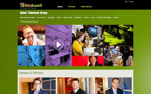 Screenshot of Team Page thinkwellgroup.com - Our Team | Thinkwell Group | Guest Experience Experts - captured Sept. 30, 2014