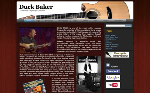 Screenshot of Home Page duckbaker.com - Duck Baker | American Fingerstyle Guitarist - captured Oct. 9, 2015