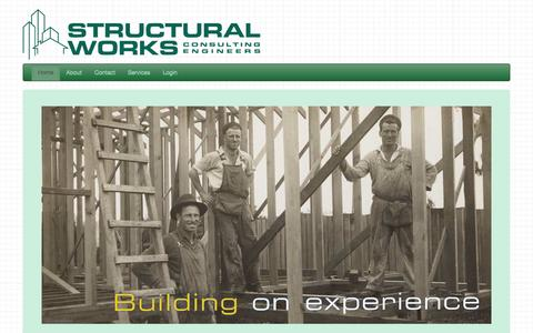 Screenshot of Home Page structuralworks.com.au - Structural Works - Consulting Engineers,Geotechnical, Surveryors - captured Oct. 8, 2014