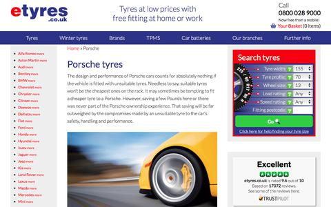 Cheap Porsche Tyres With Free Mobile Fitting - etyres
