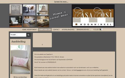 Screenshot of Privacy Page casacosiwonen.nl - Privacy Policy | Casa Cosi Wonen - captured July 17, 2017
