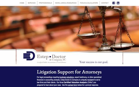 Screenshot of Terms Page edcpa.com - Litigation Support | Estep-Doctor & Company CPA | Indiana CPA Firm - captured Aug. 23, 2017