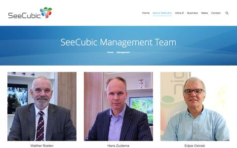 Screenshot of Team Page seecubic.com - SeeCubic |   Management - captured Oct. 4, 2014