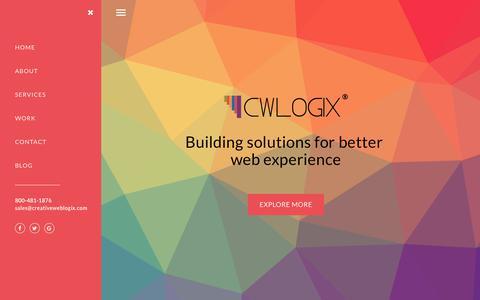 Screenshot of Home Page creativeweblogix.com - CreativeWebLogix: Web and Mobile App Development Company - captured Dec. 8, 2017