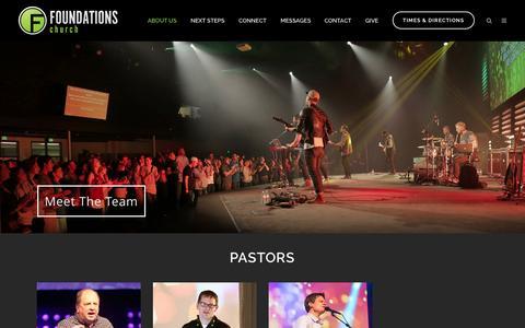 Screenshot of Team Page foundationschurch.org - Meet The Team - Foundations Church - captured Aug. 3, 2015