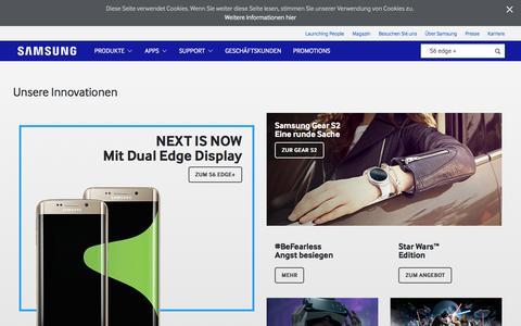 Screenshot of Home Page samsung.com - Samsung Österreich - captured Jan. 20, 2016