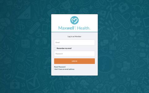 Screenshot of Login Page maxwellhealth.com - Login - captured April 28, 2017