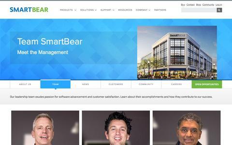 Screenshot of Team Page smartbear.com - Meet the Top SmartBears - captured July 25, 2016