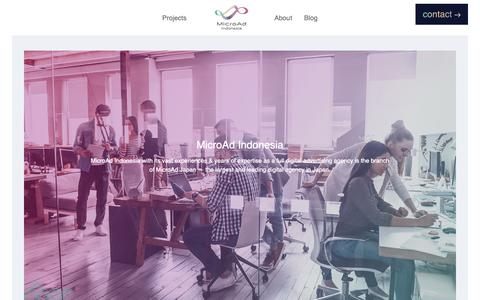 Screenshot of Home Page microad.co.id - MicroAd Indonesia | Full Service Digital Agency based in Jakarta, Indonesia - captured Oct. 18, 2018