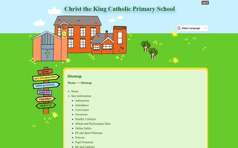 Screenshot of Site Map Page christkng.bham.sch.uk - Sitemap | Christ the King Catholic Primary School - captured Oct. 26, 2018
