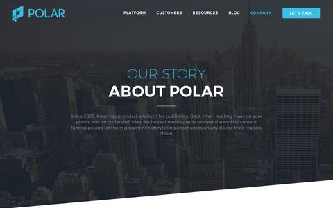 Screenshot of About Page polar.me - About Polar, Our Mission, Story and History | Polar - captured Nov. 16, 2016