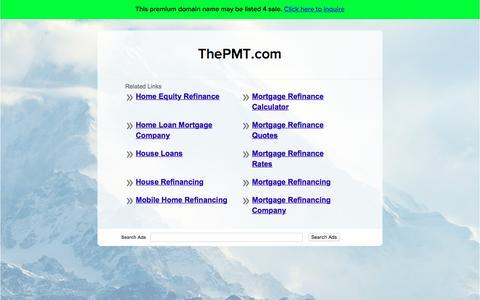 Screenshot of Home Page thepmt.com - ThePMT.com - captured Dec. 2, 2016