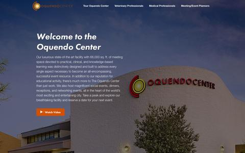 Screenshot of Home Page oquendocenter.org - The Oquendo Center - captured Sept. 30, 2014