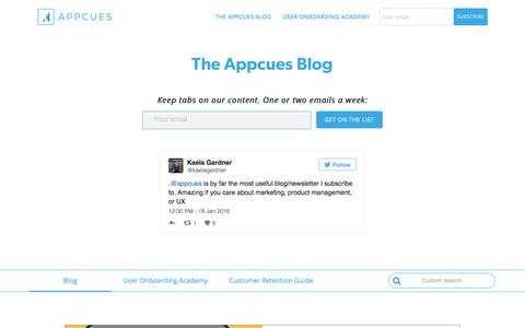 The Appcues Blog: for Growth Product People