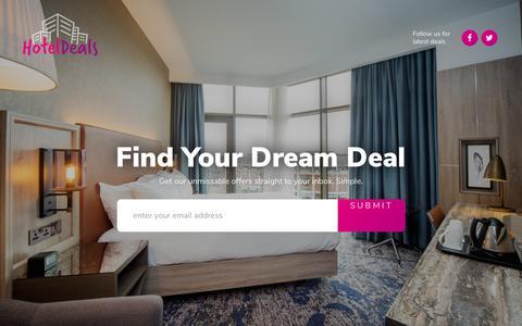 Screenshot of Home Page hoteldeals.co.uk - HotelDeals - Hotel Deals - captured Dec. 13, 2017