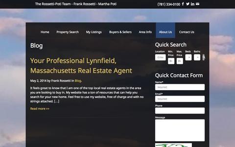 Screenshot of Blog lynnfieldre.com - Blog Archives - The Rossetti-Poti Team - Frank Rossetti - Martha Poti - captured Oct. 3, 2014