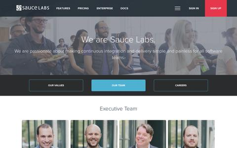 Screenshot of Team Page saucelabs.com - Sauce Labs: Team - captured Oct. 28, 2014