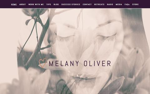 Screenshot of Home Page melany-oliver.com - Melany Oliver – Guiding Souls, Healing Hearts.. - captured Oct. 8, 2017