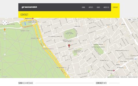 Screenshot of Contact Page greensmithltd.com - Contact | greensmith - captured Sept. 30, 2014