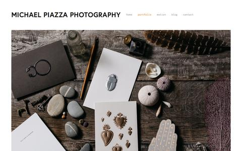 Screenshot of Products Page michaelpiazzaphotography.com - commissions — MICHAEL PIAZZA PHOTOGRAPHY - captured Sept. 20, 2018