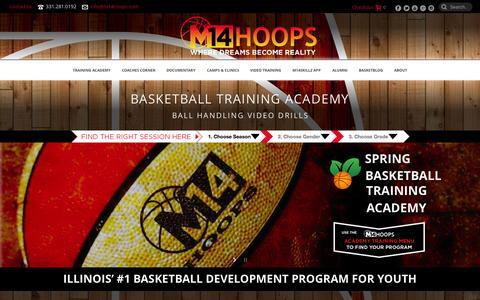 Screenshot of Home Page m14hoops.com - M14Hoops Basketball Training Academy | M14 Hoops - captured June 16, 2015