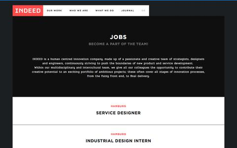 Screenshot of Jobs Page indeed-innovation.com - Careers at INDEED   Job offers for Design und Innovation - captured Oct. 15, 2017