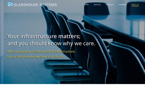 Screenshot of About Page ghsystems.com - About Us | GLASSHOUSE  SYSTEMS - captured Jan. 29, 2016