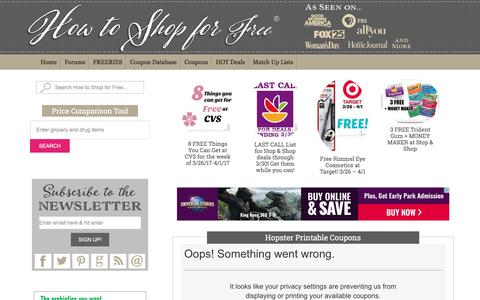 Hopster Printable Coupons | How to Shop For Free with Kathy Spencer