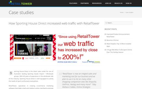 Screenshot of Case Studies Page retailtower.com - Case Study | RetailTower - captured Sept. 17, 2014