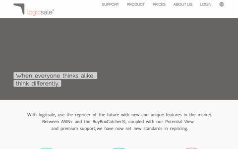 Screenshot of Home Page logicsale.com - logicsale – Your Repricer - Amazon Repricing Tool ✅ - captured Jan. 19, 2016