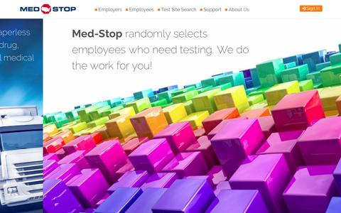 Screenshot of Home Page med-stop.com - Welcome | Med-Stop - captured Oct. 18, 2017