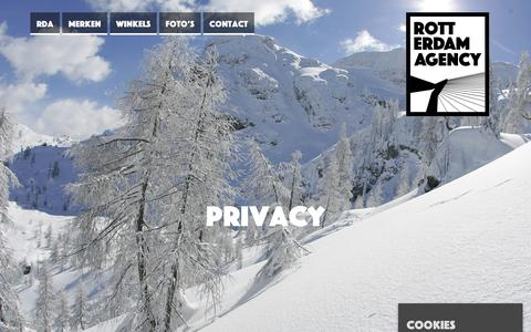 Screenshot of Privacy Page rotterdamagency.nl - Privacy - Rotterdam AgencyRotterdam Agency - captured Sept. 21, 2018