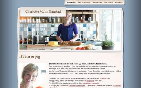 Screenshot of About Page wordpress.com - Hvem er jeg | Charlotte Mohn Gaustad - captured Sept. 12, 2014
