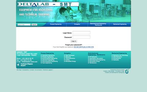 Screenshot of Login Page deltalab-smt.com - Site Delta LAB - captured Oct. 5, 2014