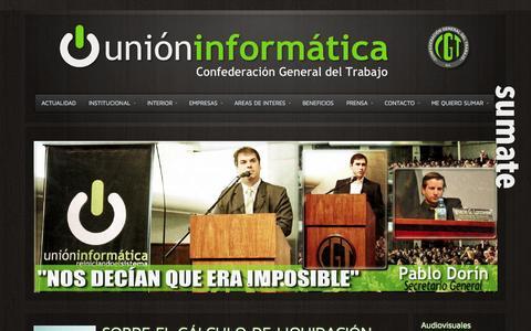 Screenshot of Home Page unioninformatica.org - Unión Informática  » Sindicato de Informática - captured Jan. 23, 2015