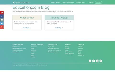 Screenshot of Blog education.com - Education.com Blog - captured Jan. 20, 2017